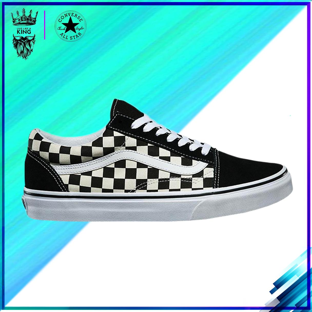 [FULLBOX+ tặng VỚ] Giày Sneaker VANS-OLD SKOOL (nam nữ) CARO hàng VNXK