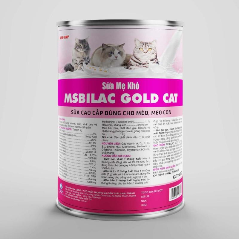 Sữa cao cấp cho chó mèo không tiêu chảy - MsBilac Gold Cat 330g