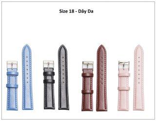 [HCM]Dây da đồng hồ Julius Hàn Quốc size 18 - 4 màu tuỳ chọn thumbnail