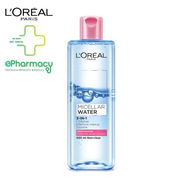 [HCM]Nước tẩy trang LOreal HỒNG dưỡng ẩm cho da nhạy cảm - LOreal Paris 3-in-1 Micellar Water 400ml