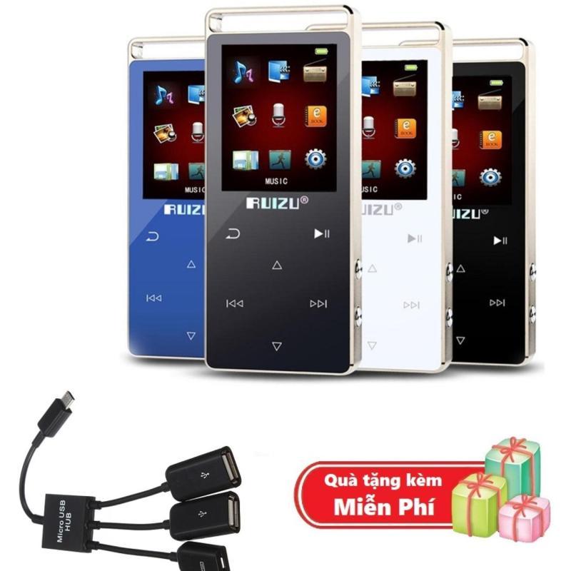 ( Quà tặng Cáp OTG 3 đầu ) Máy nghe nhạc MP3 RUIZU D01 Bộ nhớ trong 8GB hỗ trợ thẻ nhớ tối đa 128GB