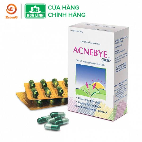 Viên ngừa mụn thảo dược Acne Bye (hộp 30 viên) - Viên uống thảo dược giảm thâm mụn, chống viêm sưng, hỗ trợ làm đẹp da- AB1-01