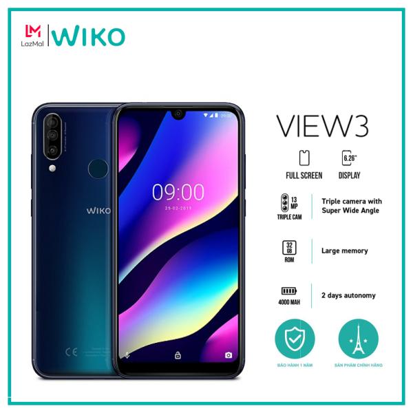Điện thoại Wiko View 3 - Ram 3GB, Rom 32GB, Pin 4000 mAh, Màn hình 6.26, Triple Camera - Hàng chính hãng