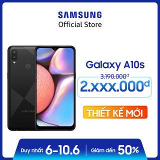 Điện thoại Samsung Galaxy A10s 32GB (RAM2GB) - Mới 100% - Màn hình tràn viền 6.2 + Công nghệ nhận diện khuôn mặt + Cảm biến vân tay một chạm mặt lưng + 2 camera sau + Pin 3500mAh -- Hàng phân phối chính hãng