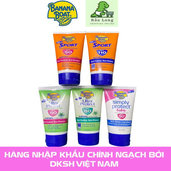 Kem Chông Nắng Banana Boat Sport, Ultra Protect, Baby, SPF50, SPF80, SPF 110 cao cấp