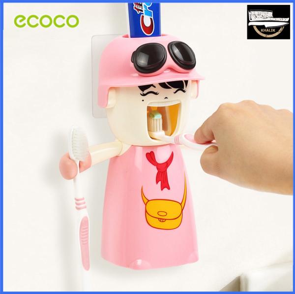 Kệ nhả kem tự động kèm để bàn chải đánh răng dành cho bé gái Ecoco-E1306