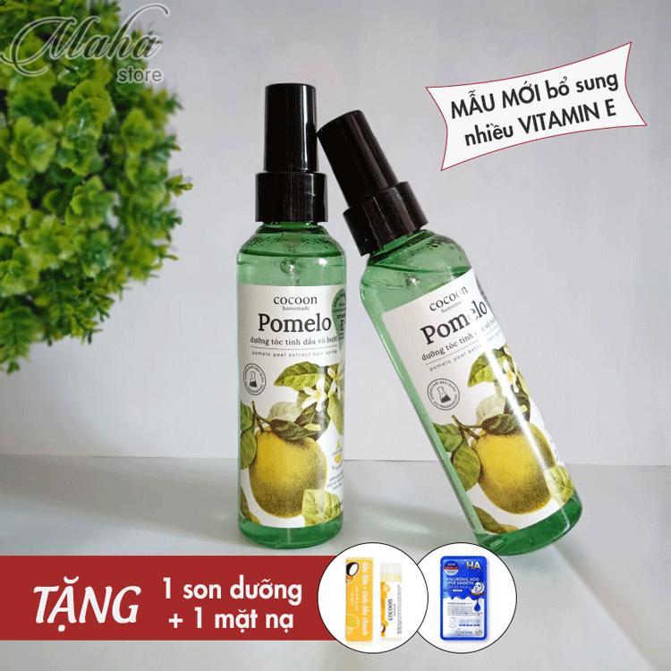 Bộ 2 Pomelo Tinh dầu bưởi giảm rụng tọc, kích thích mọc tóc [Tặng son và mặt nạ]