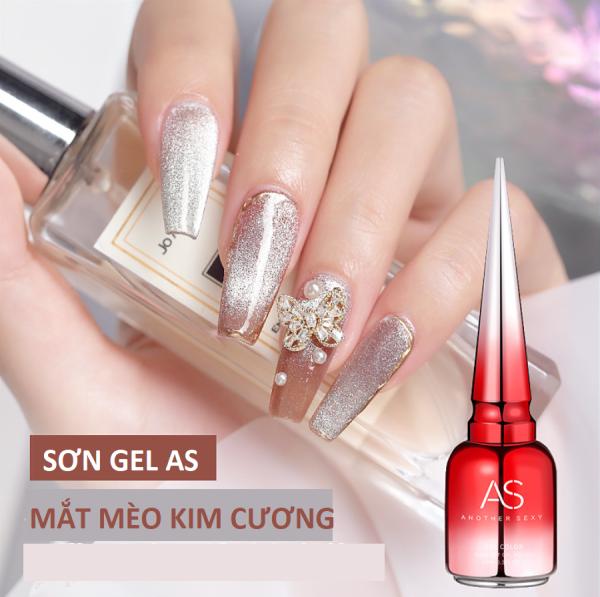 [HCM]Sơn gel AS red - Mắt mèo kim cương bạc giá rẻ