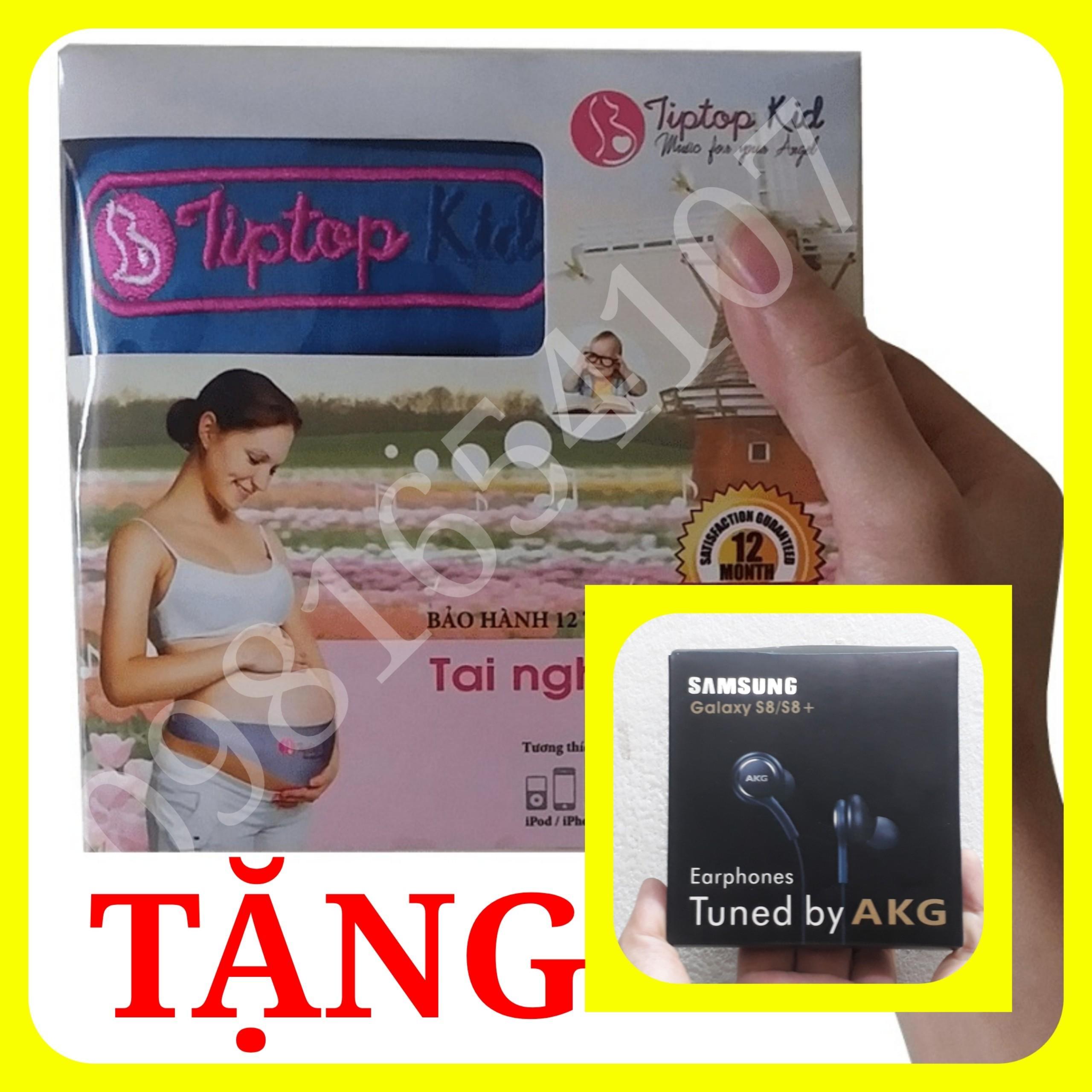 (TẶNG CD 10 Ebook Giáo Dục Sớm + CD Nhạc Thai Giáo + Tai Nghe Samsung S8) Tai Nghe Thai Nhi Tiptop Kid Mẫu Mới - Tai Nghe Bà Bầu Bất Ngờ Giảm Giá