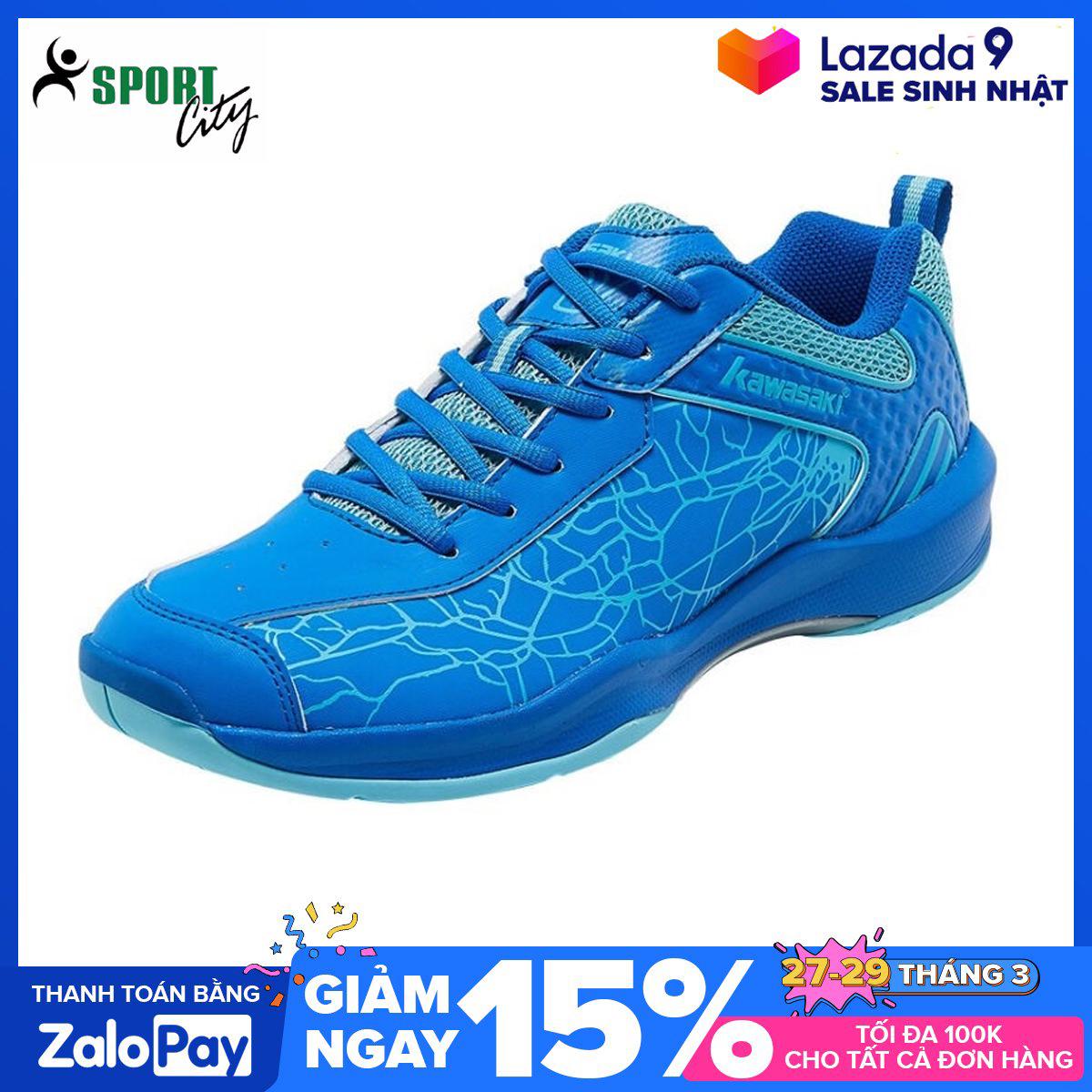 Giày cầu lông Kawasaki K081 màu xanh, chống lật cổ chân, giảm chấn hiệu quả, dành cho nam và nữ đủ size - Giày thể thao nam - Giày chơi cầu lông - Giày bóng chuyền - sportcity