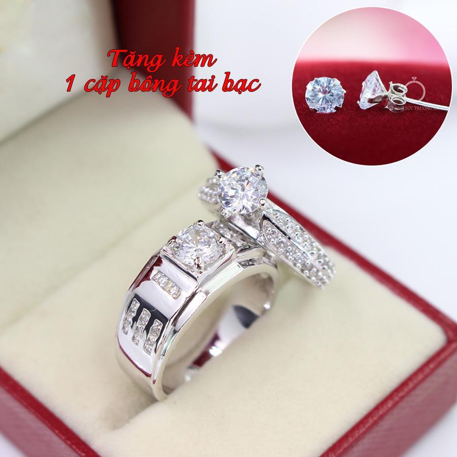 Nhẫn đôi bạc nhẫn cặp bạc đẹp ND0282 - Trang Sức Trường An