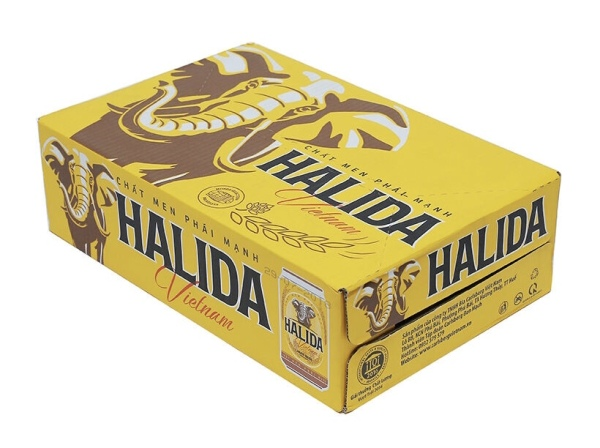 Thùng bia lon Halida 330ml