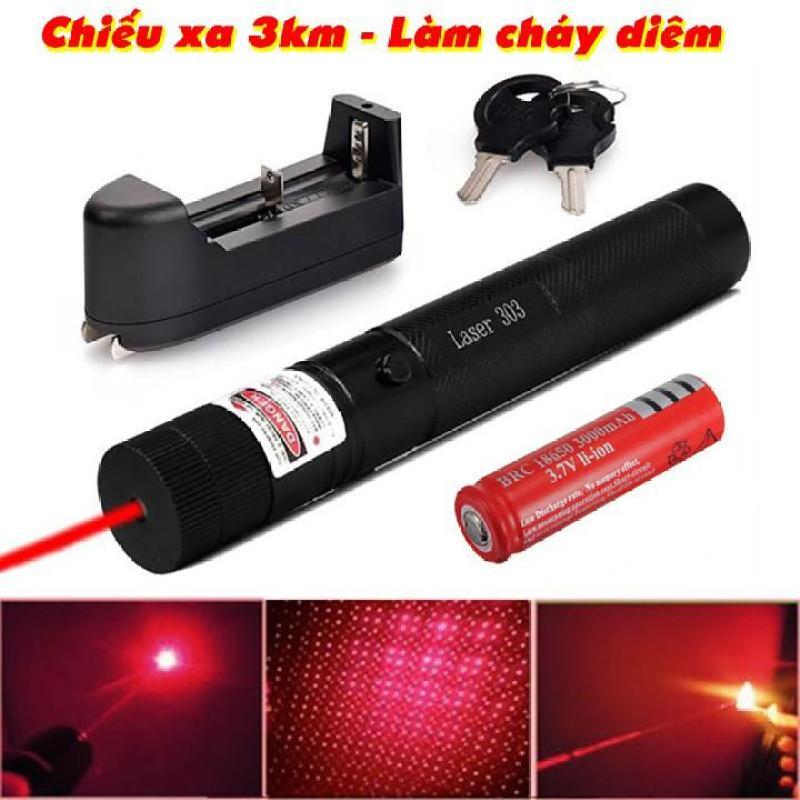 Đèn Laser - lazer - bút laze tia xanh / đỏ cực sáng công suất lớn chiếu xa 3km Tặng kèm Pin sạc bao gồm bộ sạc, có điều chỉnh hoa văn hiệu ứng ánh sáng