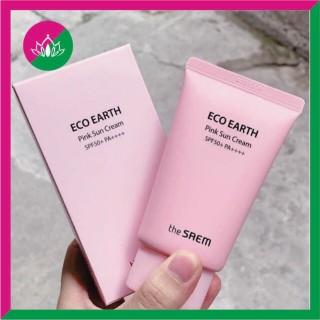 Kem Chống Nắng The Saem Pink Eco Earth Pink Sun Cream SPF50+ PA++++ Màu Hồng Mẫu Mới chống nắng hiệu quả, nâng tone da thumbnail