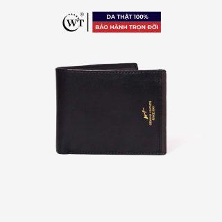 Ví Da Nam Da Bò Cao Cấp Màu Đen, Đen và Da Cam WT Leather 0849.2, 0850.2 thumbnail