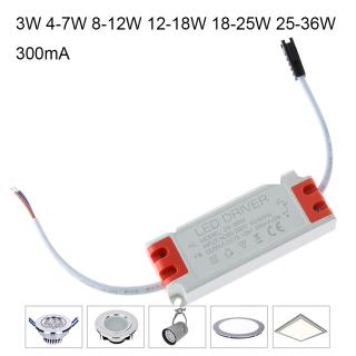 Phụ Kiện Đèn, AC85-265V 300mA Cho Đèn LED Âm Trần 3W 4-7W Đèn 8-12W 12-18W 18-25W 25-36W Máy Biến Áp Bộ Điều Khiển LED Liên Tục Nguồn Điện thumbnail