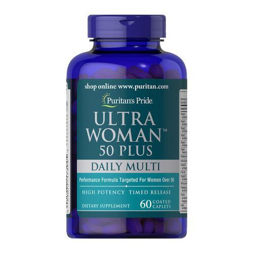 Vitamin tổng hợp cho phụ nữ, loại cao cấp, đặc biệt cho phụ nữ ngoài 50 tuổi - Ultra Woman 50 Plus 60 viên của PURITANs PRIDE cao cấp
