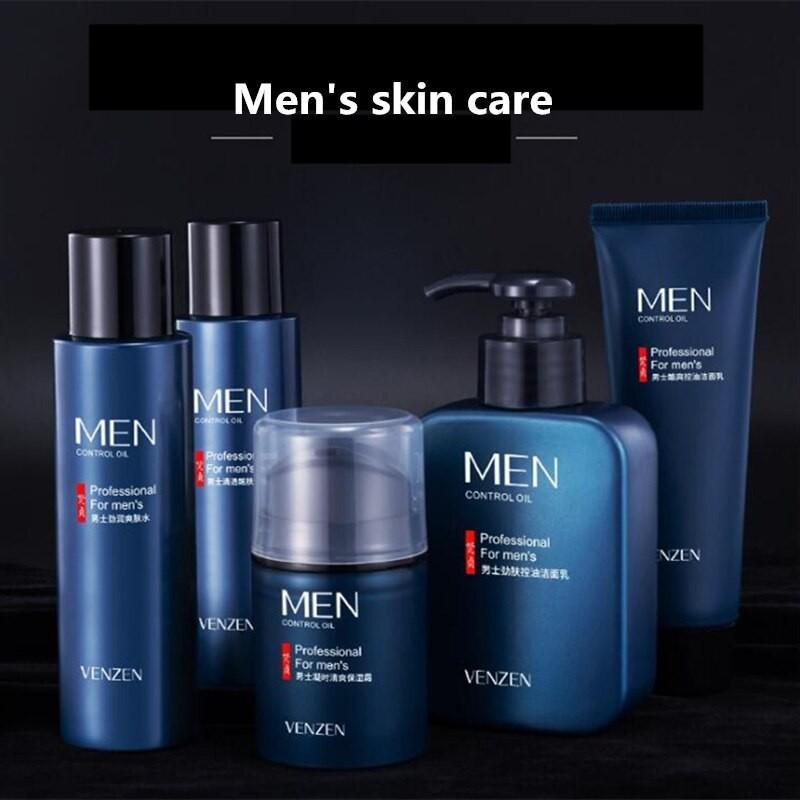 VEZE Bộ 5 sản phẩm dưỡng ẩm và dưỡng ẩm cho da nam giới trẻ hóa da Bộ sản phẩm chăm sóc da nhẹ nhàng