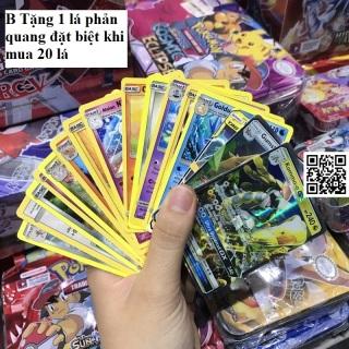 Bài Pokemon TỐT cán bóng 2 mặt ngẫu nhiên (CAM KẾT KHÔNG TRÙNG) TẶNG 1 lá phản quang đặt biệt khi mua 20 lá [ 1459 R B ] thumbnail
