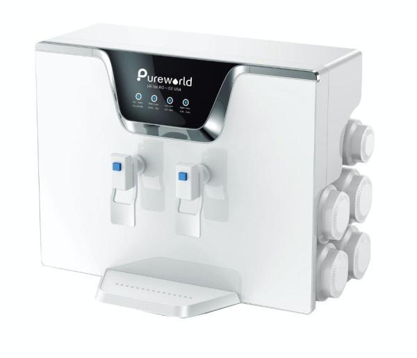 Bảng giá MÁY LỌC NƯỚC THẨM THẤU NGƯỢC (R.O) ĐỂ BÀN HOẶC TREO TƯỜNG - Bơm hút trợ lực khi nước yếu - 2 vòi nước lạnh nguội Pure World PW-RO-A5 Điện máy Pico