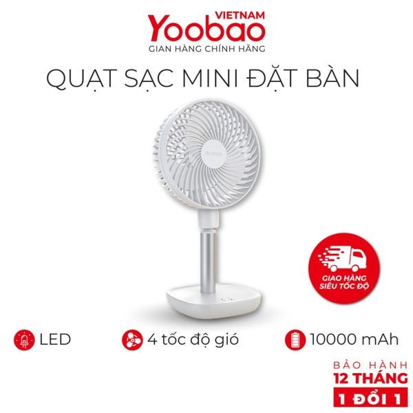 Quạt YOOBAO F1 Mini Sạc tích điện để bàn - Pin 10.000mAh có thể chạy 60 giờ liên tục