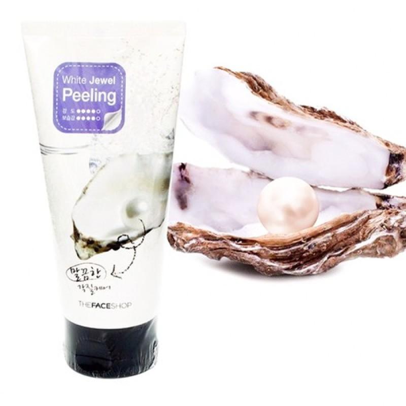 Tẩy Tế Bào Chết Ngọc Trai Smart Peeling white jewel perle- dịu nhẹ loại bỏ lớp tế bào chết lớp da sừng chai sạn