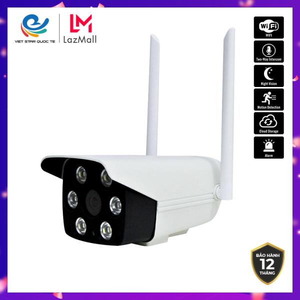 Camera Wifi  IP VIET STAR ngoài trời  23DK200 2.0MP- Độ phân giải Full HD 1080P-Chức năng phát hiện chuyển động- Ban đêm hỗ trợ đèn LED thấy màu cực rõ- Bảo hành 12 tháng. 23DK200