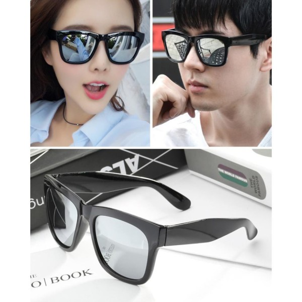Giá bán Kính mát thời trang nam nữ sành điệu mắt tráng gương,chống tia UV + Tặng kèm 1 móc dán đỡ, bảo vệ điện thoại iRing