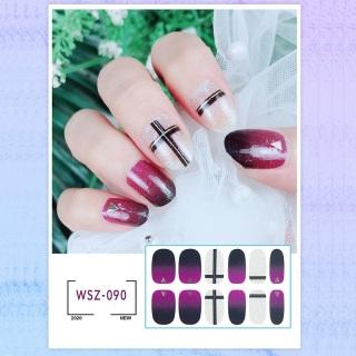 Sét 12 miếng dán móng tay cao cấp mẫu mới - nail sticker cao cấp chống thấm nước - MUA 5 TẶNG 2( tặng 1 dũa móng+ 1 miếng bông cồn lau móng) -beautyful everyday thumbnail