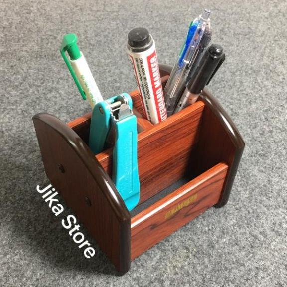 Mua Hộp đựng bút gỗ để bàn có đế xoay 360 độ Jika Store (1016)