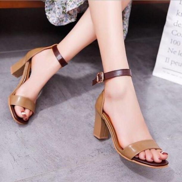 Giày Sandal milis gót vuông 7 phân giá rẻ