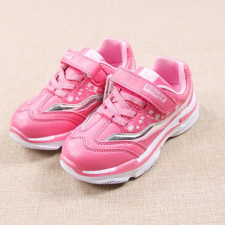 Giá bán giày Thể Thao Bé Gái Size 26-35 sóng hoa nhẹ