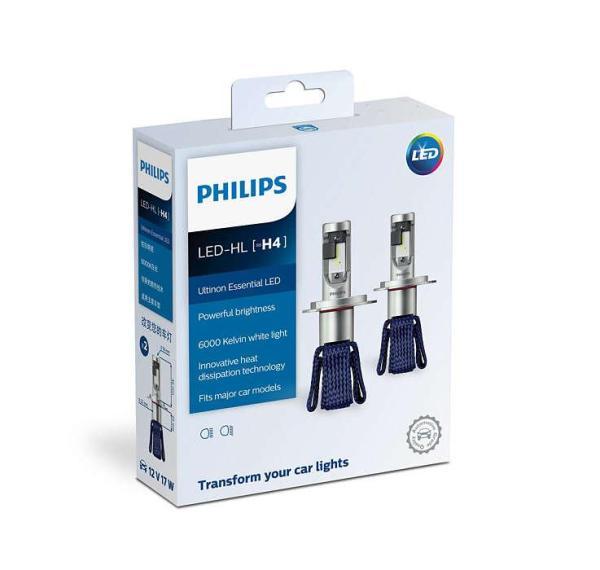 Bảo hành 3 năm - 1 bóng đèn pha LED Philips Ultinon Essential