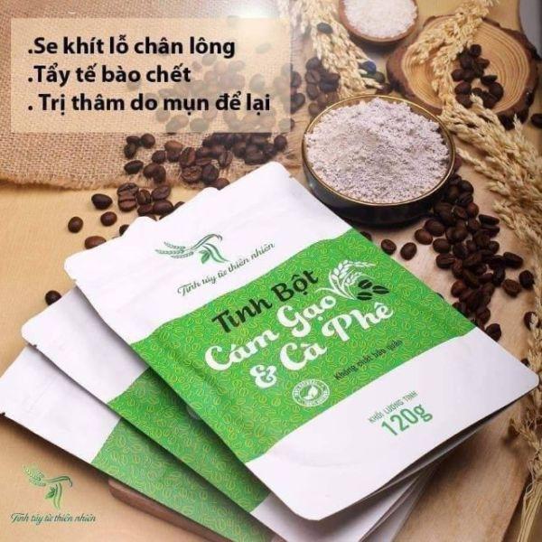 Cám gạo cafe handmade TT ( tẩy tế bào chết body, giảm mụn lưng)