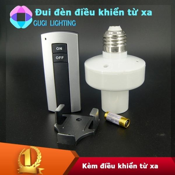 [Cam Kết Loại 1] Đui đèn điều khiển từ xa không dây bằng sóng RF E27 Chuẩn đui xoáy E27 thông dụng hiện nay, Điều khiển bật tắt đèn bằng remote tiện lợi. - BAAN STORE