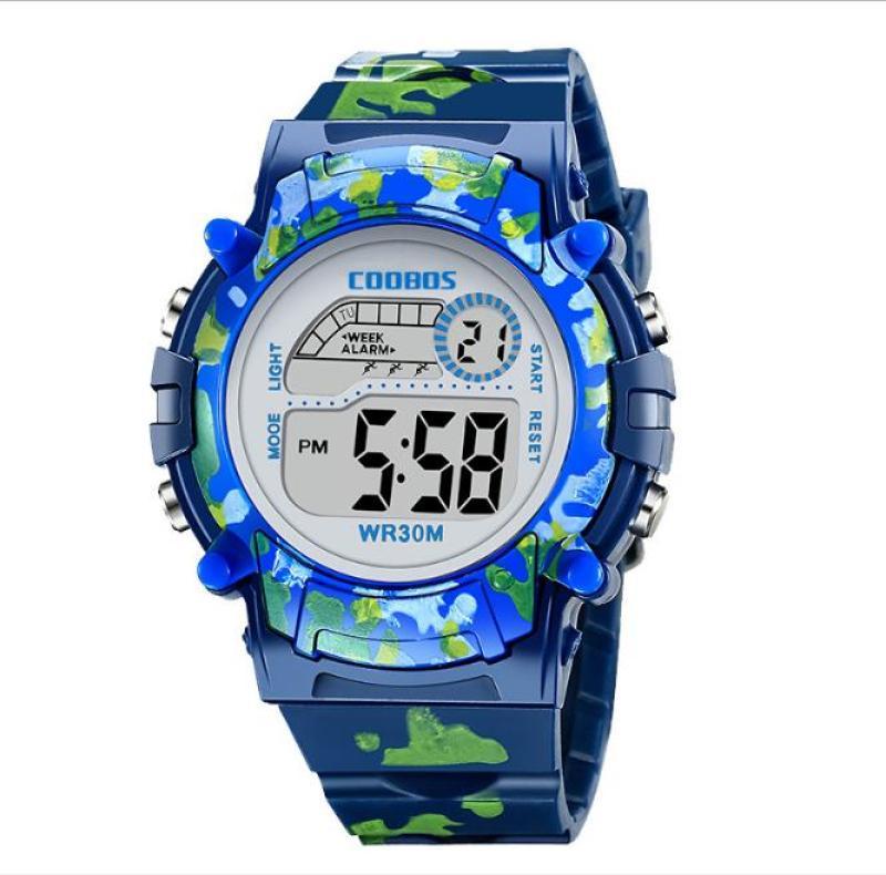 Nơi bán Đồng hồ trẻ em [CÓ 3 MÀU] đa chức năng kết hợp đèn LEX 7 màu chính hiệu COOBOS