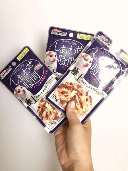 Súp Thưởng Cho Mèo Từ Nhật Bản Cá Ngừ Cá Thu Và Thịt Gà 55G thành phần 100% tự nhiên, cá ngừ, cá thu, thịt gà, cá cơm, bổ dung nguồn dinh dưỡng tự nhiên cho mèo - SP000635
