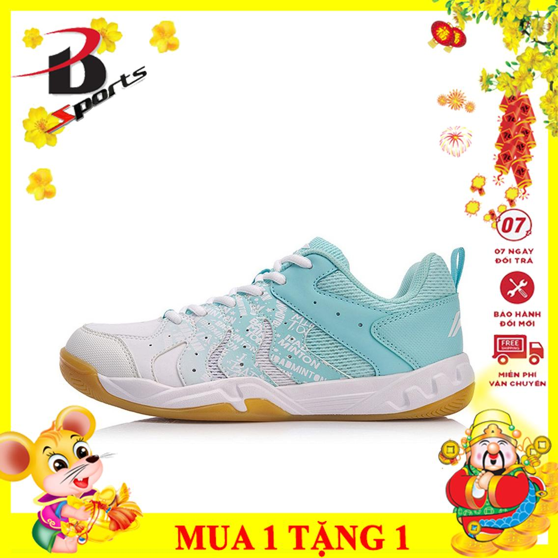 Bảng giá Giày cầu lông nữ Lining màu trắng AYTN052-2 đế kếp cao su già, đàn hồi, bảo vệ chân, bảo hành 24 tháng - giầy đánh cầu lông - giày đánh bóng chuyền - giày nam