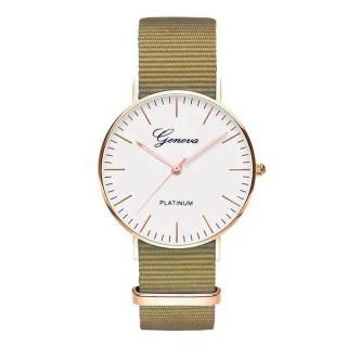 Đồng hồ thời trang Unisex (nam-nữ) dây vải NATO đơn sắc GENEVA GE002 (đường kính mặt 40 mm) thumbnail