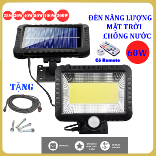 (Bảo Hành 24 tháng)Đèn năng lượng mặt trời 60 W,Chống nước, dùng trong cả mùa mưa, đèn năng lượng mặt trời có điều khiển( remote) thumbnail