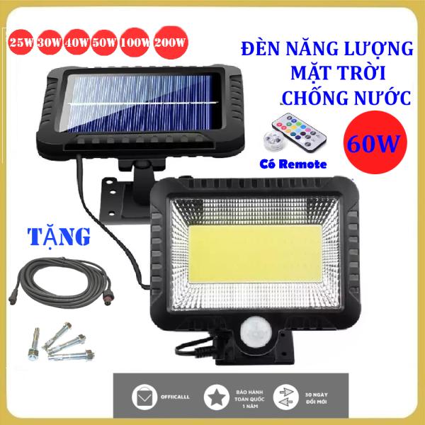 (Bảo Hành 24 tháng)Đèn năng lượng mặt trời 60 W,Chống nước, dùng trong cả mùa mưa, đèn năng lượng mặt trời có điều khiển( remote)