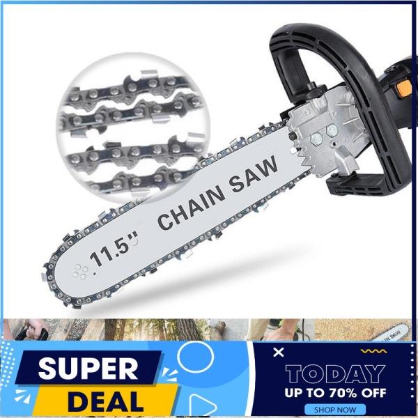 Bộ chuyển đổi máy mài góc thành máy cưa xích - Lưỡi cưa xích CHAINSAW - Biến máy mài thành máy cưa - Có bình tra dầu tự động - Cưa cây - Cắt gỗ - Cắt cành (Chain Saw 11.5 - 300mm)