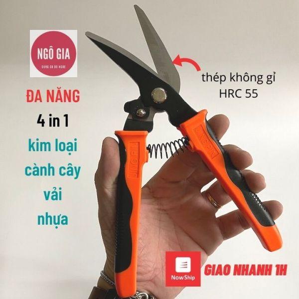 Kéo đa năng Braveman Pro cắt kim loại, vải, cành cây, nhựa mỏng, lưỡi thép cao cấp, thiết kế thông minh