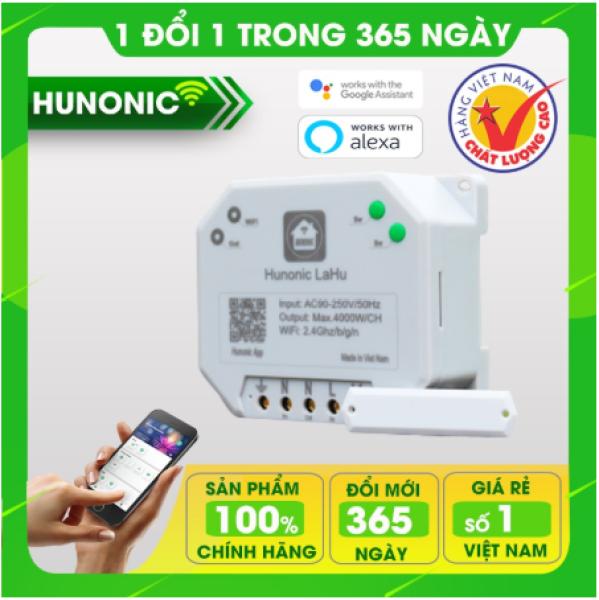 Công tắc wifi Lahu 4000W dùng cho máy bơm, bình nóng lạnh. Công tắc điều khiển từ xa qua điện thoại Made in Việt Nam