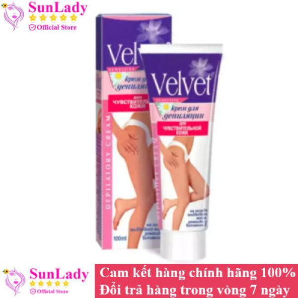 Kem Tẩy Lông Chiêt Xuất Hoa Cúc Velvet Sensitive 100ml - chuyên lột lông nách , lông chân