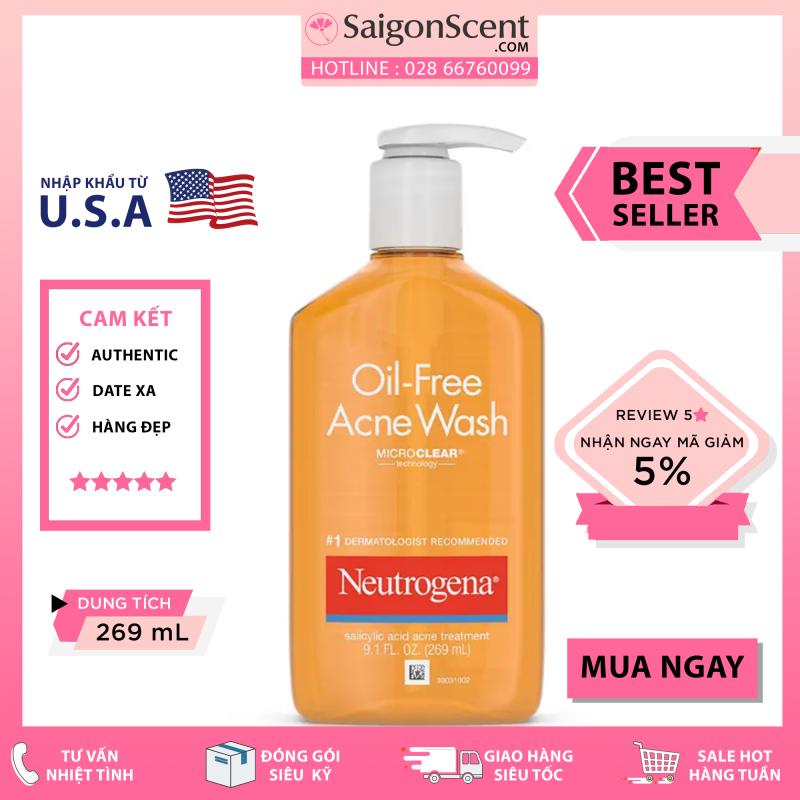 [Saigon Scent] Sữa Rửa Mặt Cho da dầu mụn Neutrogena Oil Free Acne Wash ( 269mL ) giá rẻ