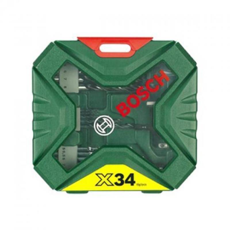 Bộ mũi khoan và vặn vít X-Line 34 chi tiết 2607010608