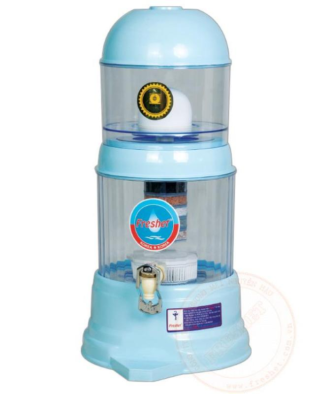 Bình lọc nước gia đình cao cấp Freshet Hàn Quốc màu xanh dương công suất 2lit/h bình 16lit