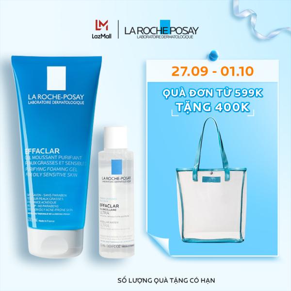 Bộ sản phẩm làm sạch và bảo vệ da dầu nhạy cảm La Roche-Posay Effaclar Gel cao cấp
