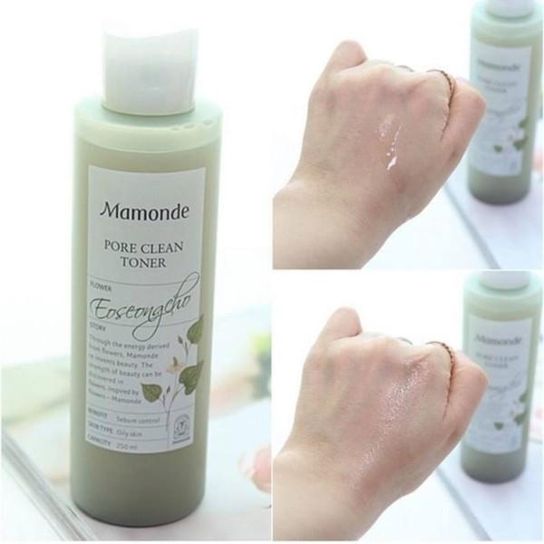 Nước hoa hồng Mamonde Pore Clean Toner 250ml cao cấp